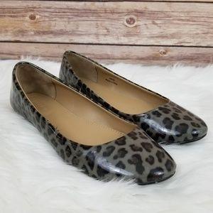 J Crew Leopard Patent Leather Flats